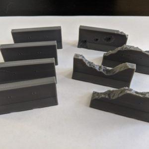 Concrete Jersey Barriers – 28mm Scenery