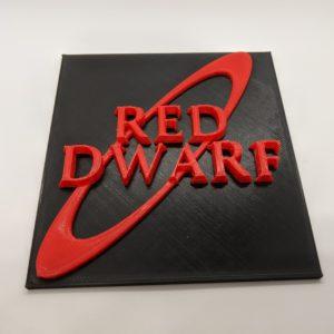 Red Dwarf Logo Plaque/Sign