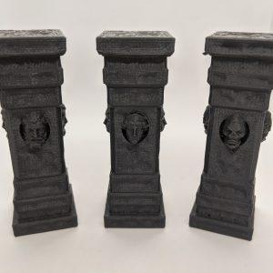 3x Stone Faced Pillars Columns Posts